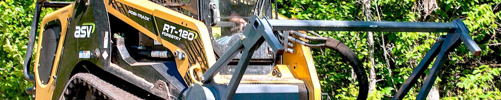 Forestry & Logging Equipment Skid Steer Loaders ASV RT-120 Machines
